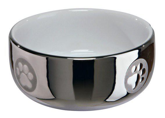 Keramická miska stříbrná