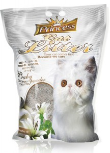 Princess Cat Litter Scoopable - Baby Powder