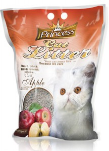 Princess Cat Litter Scoopable - Apple