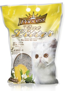 Princess Cat Litter Scoopable - Lemon