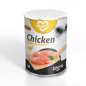 Konzerva 400g - kuřecí = 100% masa